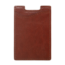 Genuine Leather Super Slim 3M Sticky Phone Card Holder Factory