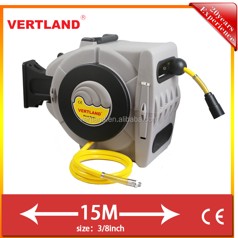 autoloaded air hose reel with hose guide