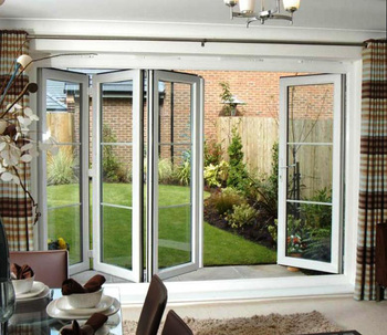 American style Exterior folding glass doors, aluminum folding patio doors prices