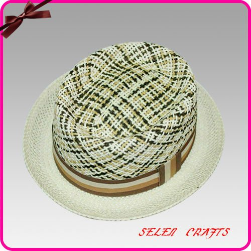 Embroidery Salt Grass Hat for Men/Bowler Hats