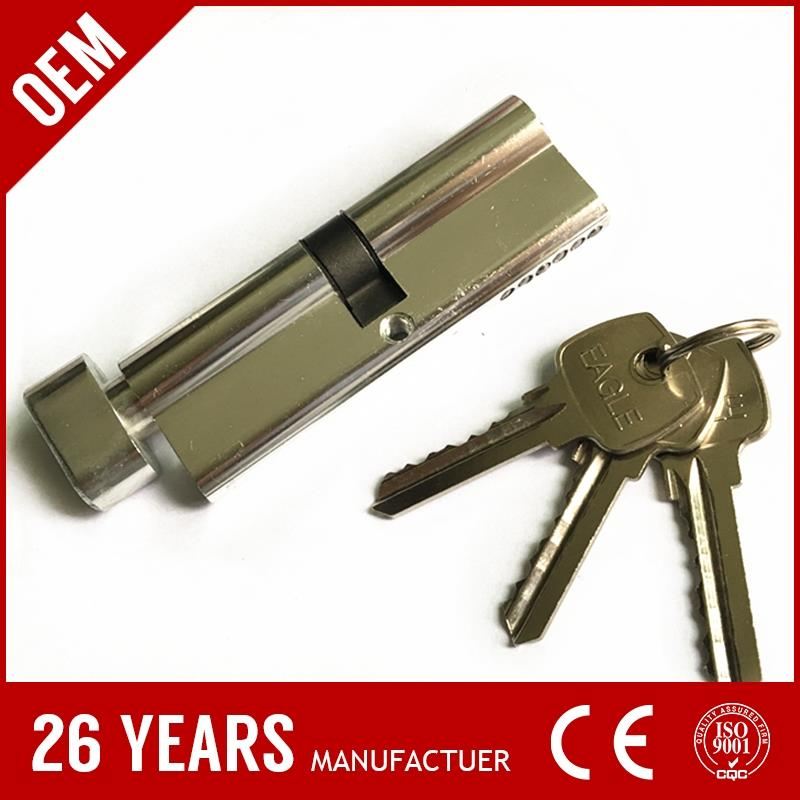 2016 best sell oxidize aluminium brass polish cylinder digital lock with nickel plate