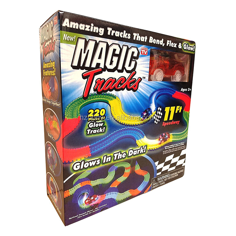 Magic Tracks Race Track with 5 LED lights (Random Car Color) Tracks
