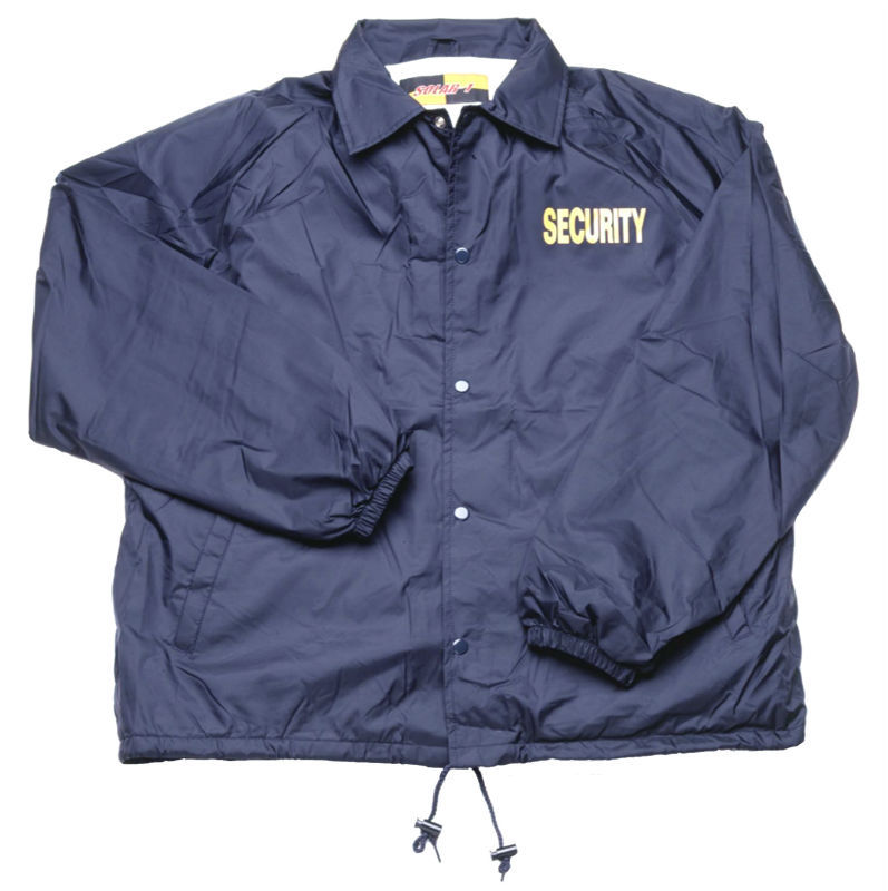 Nylon Windbreaker Coaches Jacket with Security Logo WB02