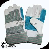 SRSAFETY double palm high quality drilling leather work gloves
