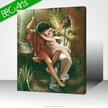 lovers on a swing cheap picture canvas prints