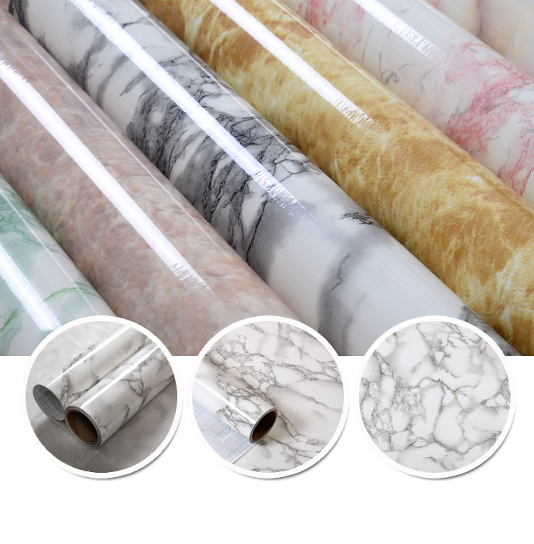 PVC vinyl self-adhesive marble wallpaper home decoration waterproof decorate wall paper for bathroom table furniture cover
