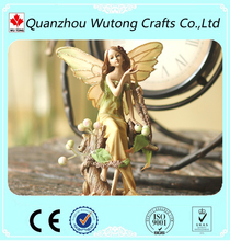 Wholesale Ornaments Craft Resin Sitting Fairy Figurine
