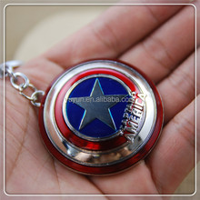 Wholesale Super Hero The Avengers Captain America Shield Metal Keychain Pendant Key Chain Chaveiro Gift For Men Boys Cheap