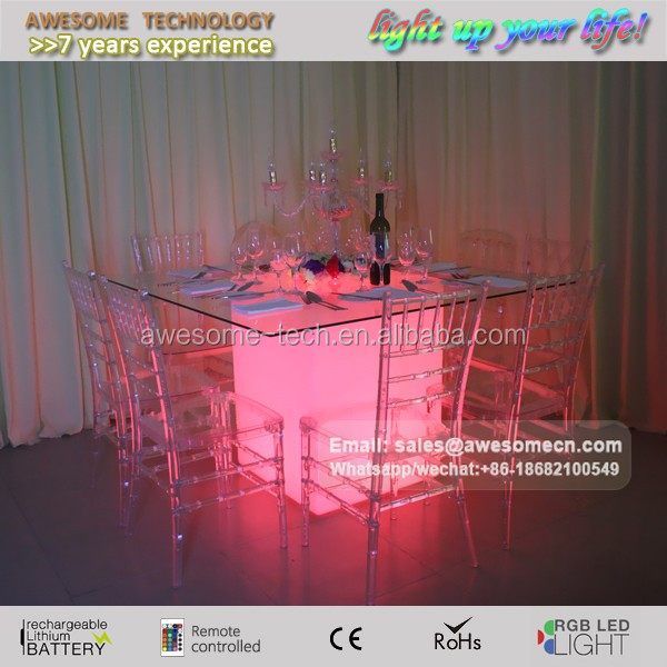 Africa crystal acrylic lighted led wedding table