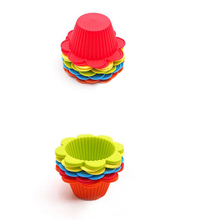 WB-FGBS1027 Non-Stick tart pan Silicone Mini Rectangle Reusable Cupcake/Muffin Baking Cups