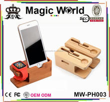 FOR APPLE IPHONE WATCH WOOD MOBILE PHONE HOLDER