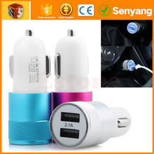 wholesale mobile phone accessories dual 2.1amp usb car charger