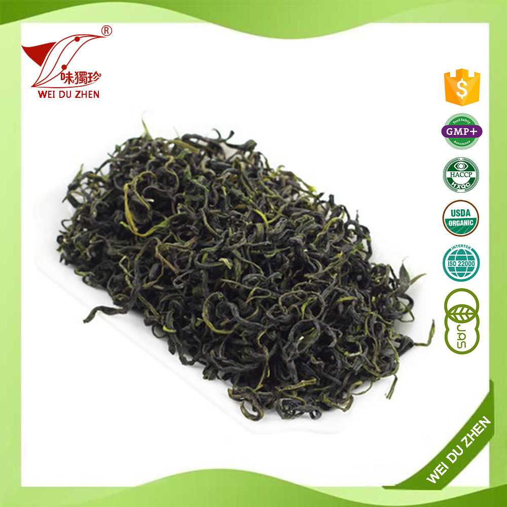 Chinese Gold Manufacturer Chinese Green Rich Flavor Green Tea Maroc Spring MaoFeng Green Tea