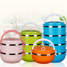 Colorful food storage containers insulated tiffin food warmer lunch boxes