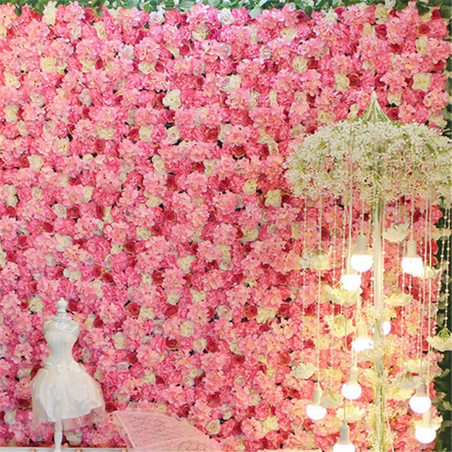 Wall Hanging Artificial Flowers For Wedding Hotel Party