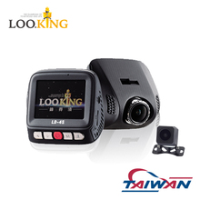 Loo.king Dual Dash Cam FHD 1080P Front & Rear Dash Cam 155 degree Wide Angle Dual Lens Car Camera Dashboard Camera with G-Sensor