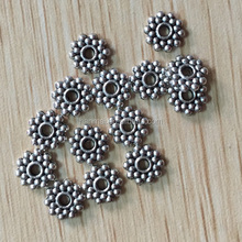 Zinc alloy spacer beads flower shape, Metal bead for jewelry making