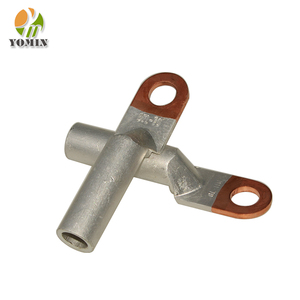 High voltage tinned metal electrical Cu copper brass electric compression cold pressed cable lug