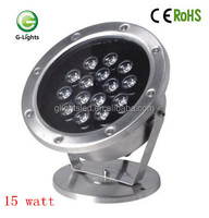 stainless steel 15W RGB LED pool light