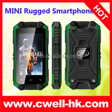 MINI J5 2.4 Inch MT6580 Quad Core IP65 Waterproof Small Size 3G Android Mobile Phone with WIFI GPS function