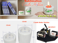Hottest Home Decoration Christmas Gift Sublimation White Ceramic Candle Holder (ZT-S)