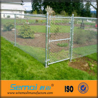 2013 Hot Sale Galvanized Decorative Discount Removable Hot Dipped Farm Chain Link Fence Semai Manufacturer