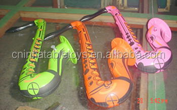 Factory Promotional custom made inflatable cartoon saxophone