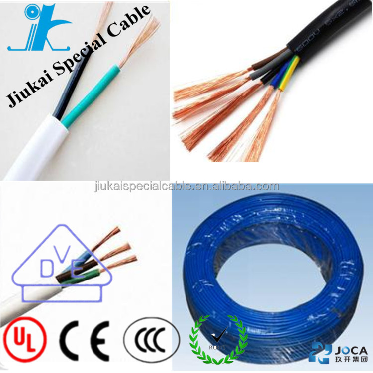 5 cores 1.5 mm2 HO5VV-F 300/500V tinned copper conductor PVC insulation wire and cable
