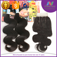 Newness paypal accept fast shipping double drawn unprocessed virgin lace closure eurasian hair cheap
