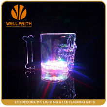 Skull shape Water Activated LED Glass