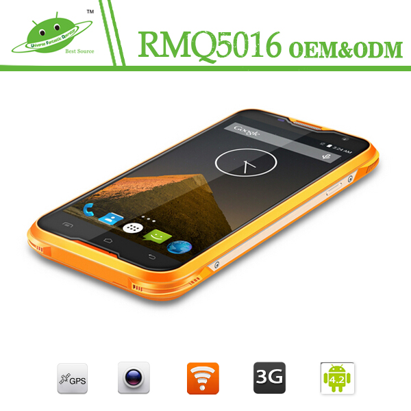New 2016 smartphone 5.0 inch 5000Mah big battery Android 6.0 2G RAM 16G ROM unlock 4g rugged smartphone