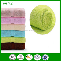 2015 best selling thick bright color Customize logo 100% Terry Cotton pool Bath Towel for bar