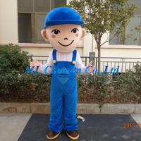 factory sale elevator worker mascot costume for commercial activity