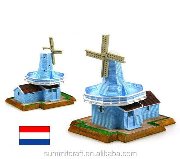 Holland windmill famous 3d building model resin holland souvenirs