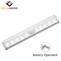 10 LED Battery Operated Pir Motion Sensor Light,LED Motion Sensor Night Light,LED Closet Light