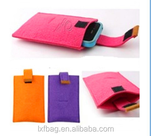 felt cell phone bag mobile phone pouch