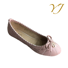 PU Material flate fashion casual women shoe designer comfortable spring lady shoe