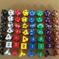 New Arrival 7pcs/Set Resin Polyhedral TRPG Games For Dungeons Dragons Opaque Multi Sides Dice Pop for Game Gaming