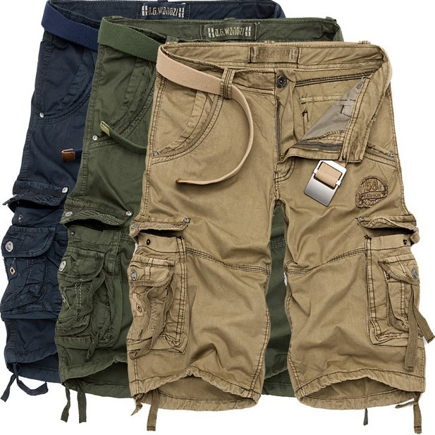 Match Cargo Pants Men's Military Casual Pants Baggy Shorts Pockets Cargo Short