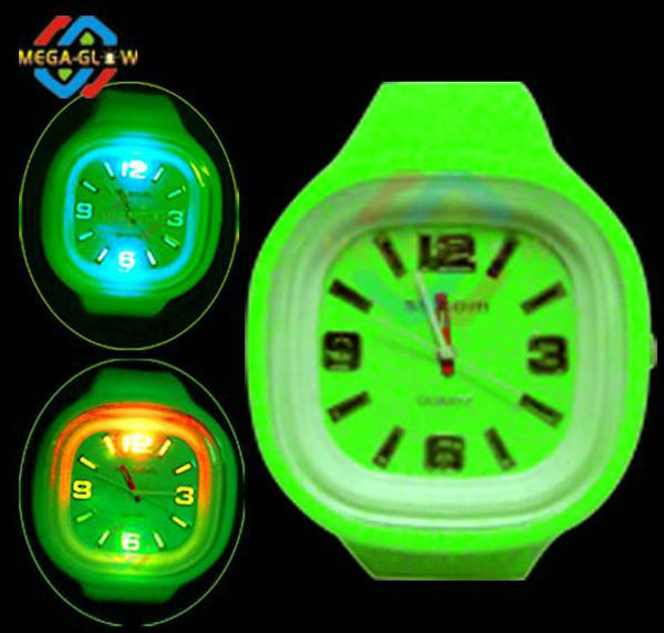 wholesale gift custom silicone LED Flashing watch