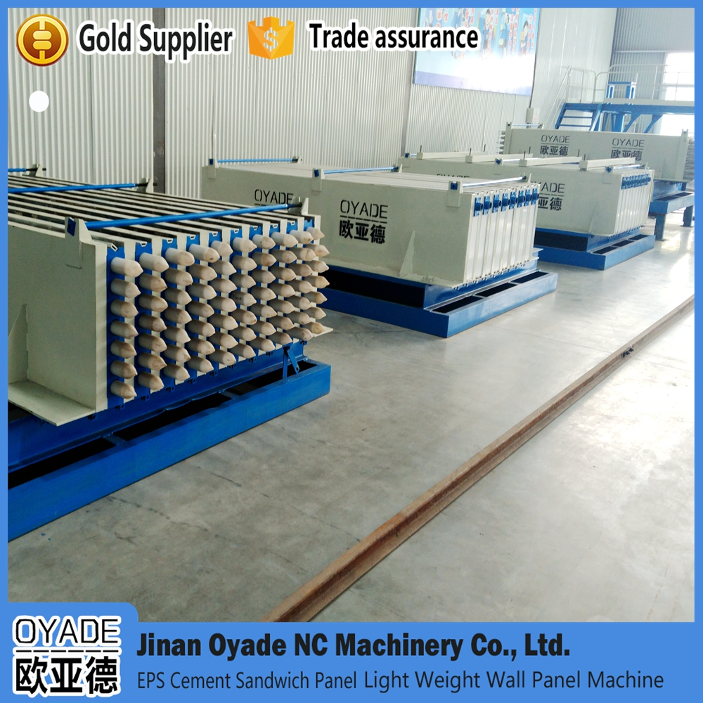 OYADE brand lightweight building materials, machinery for manufacturing of EPS concrete sandwich panels