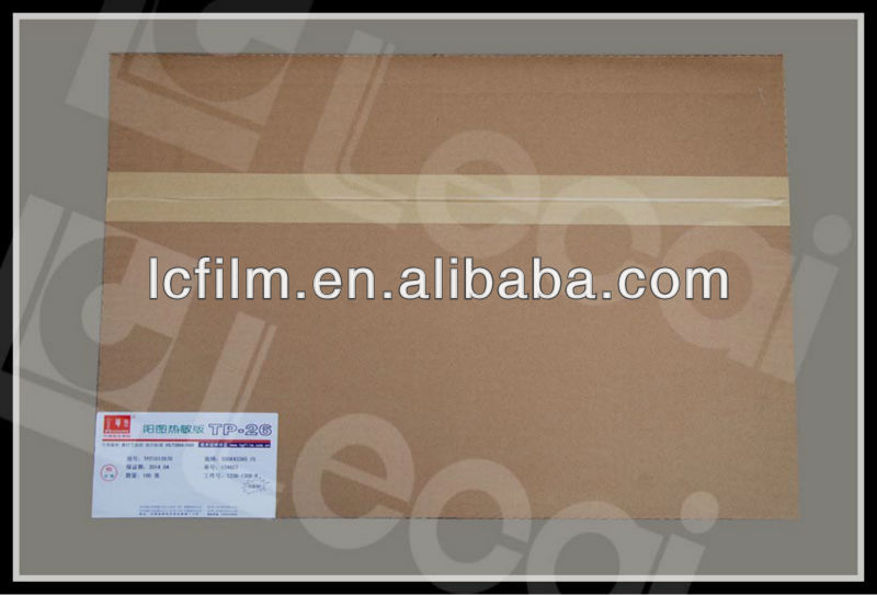 Positive working, no preheat thermal digital printing CTP plate