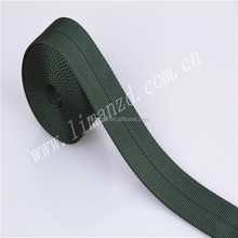 green tube nylon webbing,striped/plain/flat nylon webbing strap 38mm for bags strap