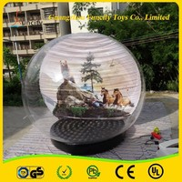 1.0mm PVC and 0.9mm PVC Tarpaulin Indoor giant inflatable snow globe for festival decorations