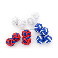 Star Spangled Silk Knot Cufflinks Cuff Links