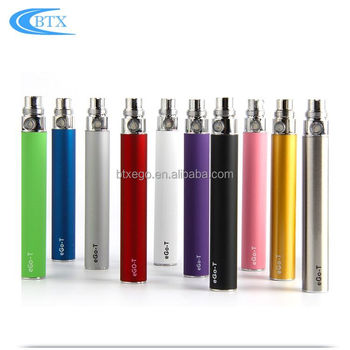 Hot selling 650/900/1100mah e-cigarrete battery 1.6ml atomizer rechargeable ego battery