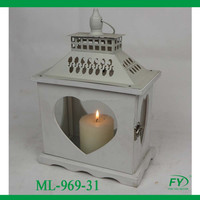 Small Wedding Wooden lantern with metal top with star design ML-969-31