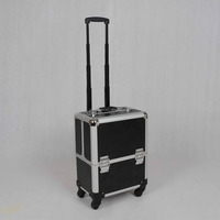 High quality trolley makeup artist case rolling makeup case professional makeup trolley case