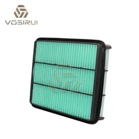 spare parts auto air filter size for Japanese car 17801-30040