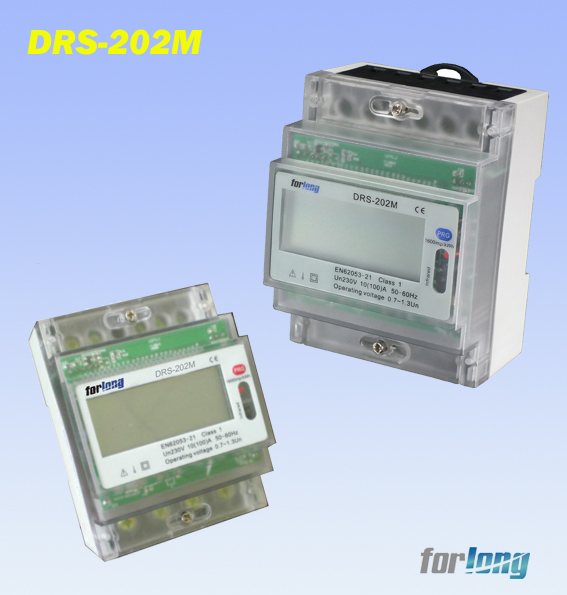 Forlong DRS-202M RS485 system Communication Four module LCD 5+2 display electricity meter din rail meter